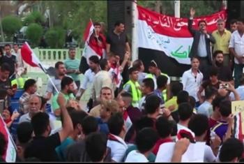 العراقيون يواصلون التظاهرات في 18 مدينة تزامنًا مع قطع الطرق