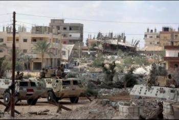 قصف جوي ومدفعي من جيش السيسي على  مدينة رفح