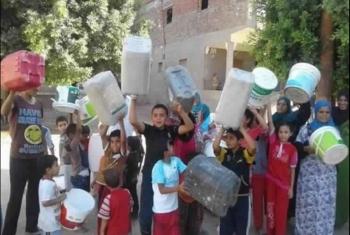 استغاثة من أهالي صان الحجر بسبب قطع مياه الشرب