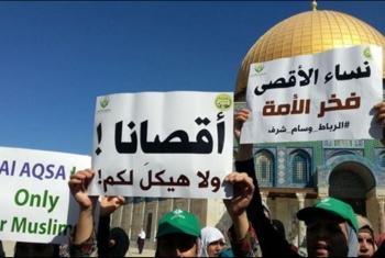 الفلسطينيون يجددون مبايعة الأقصى والدفاع عنه خلال صلاة الجمعة اليوم