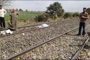 مصرع شخص أسفل عجلات القطار أثناء عبوره مزلقان سوق كفر صقر