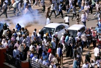 حريق في القصر الرئاسي بالخرطوم