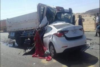 إصابة 5 أشخاص في حادث تصادم 6 سيارات على طريق بلبيس - العاشر