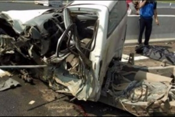 إصابة 5 أشخاص في انقلاب سيارة بالطريق الإقليمى بمنيا القمح