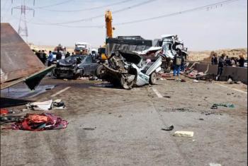 إصابة 5 مواطنين في حادث تصادم عدة سيارات بمنيا القمح