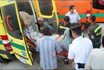 مصرع وإصابة 5 في تصادم توك توك مع موتوسيكل بأولاد صقر