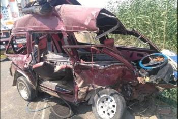 إصابة 6 أشخاص في تصادم سيارتين بالصالحية الجديدة
