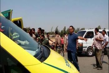 إصابة 6 أشخاص في حادث تصادم بأبوحماد