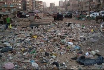 القمامة تضرب قرية