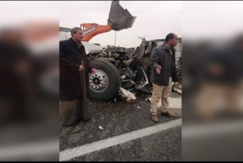 إصابة 6 إثر حادث انقلاب سيارة في