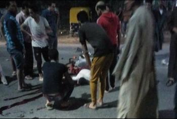 مقتل طالب جراء تصادم سيارة ودراجة بخارية بأولاد صقر