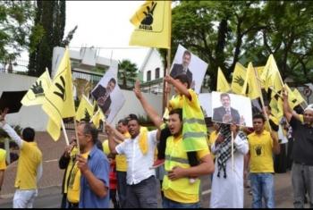 المصريين يحيون ذكرى ثورة 25 يناير بمسيرة في جنوب إفريقيا