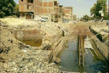 قرية الملاك بأبوحماد تغرق بمياه الصرف الصحي بشكل مستمر