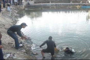 مصرع طفل غرقا في مياه الترعة بقرية
