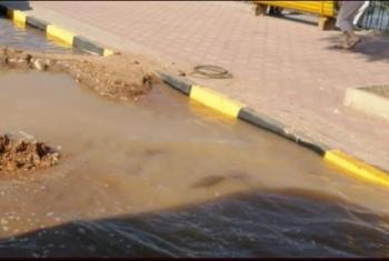 فاقوس| قطع مياه الشرب عن منازل المواطنين بسبب كسر ماسورة