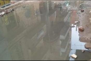 غرق منازل مواطني عزبة المهندس بمنيا القمح بمياه مجهولة