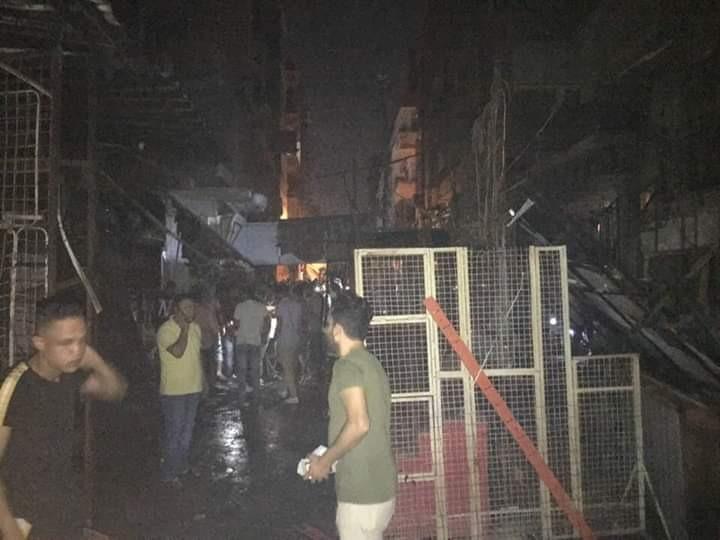 نشوب حريق في مخزن بكفر شلشلمون بمنيا القمح