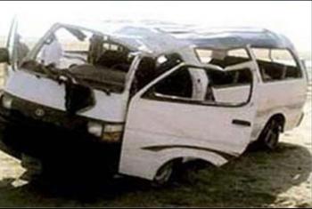 إصابة 10 أشخاص إثر انقلاب ميكروباص ببلبيس