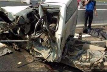 إصابة 3 أشخاص في انقلاب سيارة ميكروباص بكفر صقر