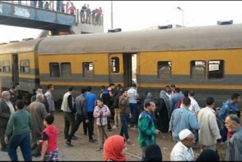 مصرع شخص من الحسينية وإصابة آخر أسفل عجلات القطار بفاقوس