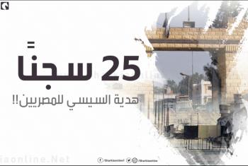 25 سجنًا..هدية السيسي للمصريين