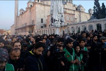 تضامنا مع القدس وخطيب الأقصى.. وقفات بعد صلاة الفجر في تركيا