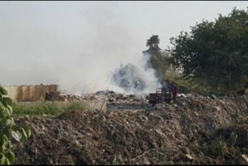 بالصور  حرائق القمامة تهدد أهالي كفر الشعراء بكفر صقر