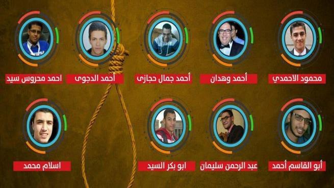 الانقلابيون ينفذون الإعدام بحق 9 أبرياء في هزلية اغتيال هشام بركات