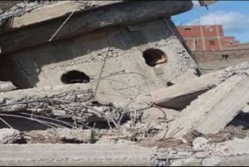 ديرب نجم| إصابة 3 أشخاص في انهيار جزء من مسجد تحت الترميم