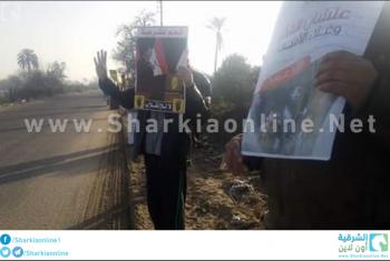 صور| سلسلة بشرية لثوار الحسينية تحت عنوان