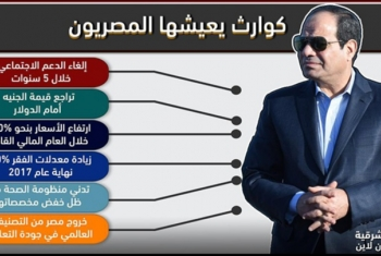 إنفوجراف.. كوارث يعيشها المصريون تحت حكم السيسي