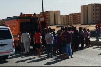 حادث مروري بالحي الـ14 في العاشر من رمضان