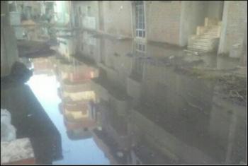 منيا القمح.. السعديين عائمة على مياه الصرف الصحي