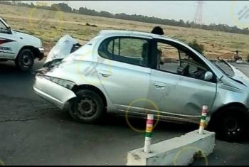 بالصور.. إصابات في حادث تصادم بين 5 سيارات على مدخل العاشر من رمضان