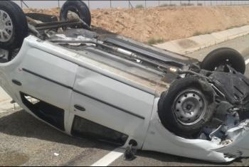 إصابة رئيس محكمة جنايات الجيزة وأسرته بعد انقلاب سيارتهم