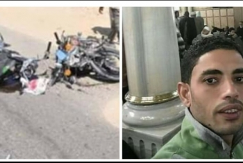 مصرع شاب وإصابة 3 إثر تصادم دراجتين بطريق