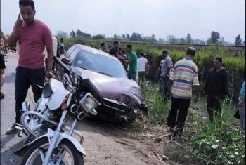 حادث مروري على طريق الموت ههيا- الزقازيق