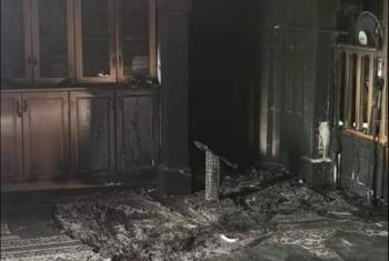 مستوطنون يحرقون أجزاء من مسجد في القدس