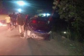 مصرع وإصابة 5 أشخاص في حادث تصادم بطريق