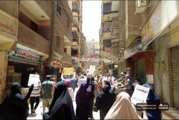 صور| أحرار الجيزة يحتشدون بمسيرة حاشدة في جمعة