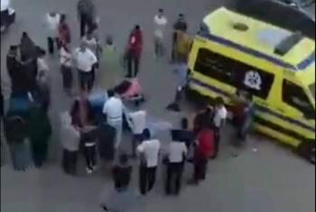 زوج يقتل زوجته الحامل بالرصاص الحي في الشارع بالإسماعيلية