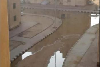 شكوى من انتشار مياه الصرف بالشوارع في الحي 12 ابني بيتك بالعاشر