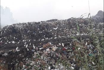 بالصور.. تلال القمامة تغزو شوارع مدينة
