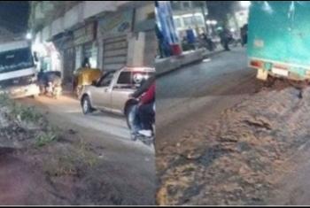 الأهالي يطالبون برصف طريق مزلقان متولي سعد بأبوكبير