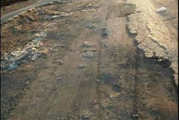 استغاثات من تدهور طريق يربط 3 مراكز بالشرقية