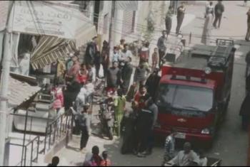منيا القمح  حريق بمنزل في قرية السعديين
