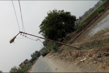 تهالك أعمدة الكهرباء يهدد أهالي فاقوس وأولاد صقر