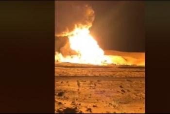 لليوم الثاني..الانقلاب يفشل في السيطرة على حريق بئر بترول