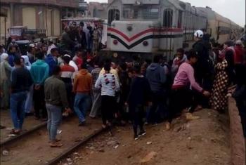 مصرع مهندس أسفل عجلات القطار بكفر صقر