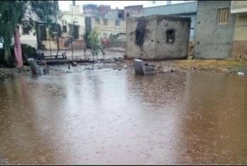 مياه الأمطار تهدد سكان